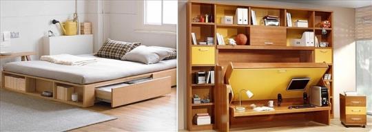 Những nội thất thông minh giúp căn phòng trở nên rộng và đẹp hơn