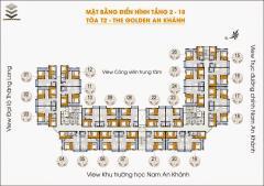 Cho thuê một số căn hộ chung cư tòa 18t2 the golden an khánh