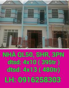 Nhà ql50, 395tr, shr, 1 lầu, 2p&3pn, 2wc