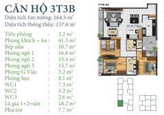 Bán căn 03 tòa t3b horizon tower  tầng đẹp giá 30tr/m2