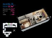 Mở bán căn hộ cheery 3 gần ngã tư an sương gần chợ đầu mối dt: 50 m2,12,4 triệu/m2