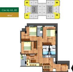 Cho thuê căn hộ sài gòn town, tân phú, 85m2, 3pn,2w, giá 7tr