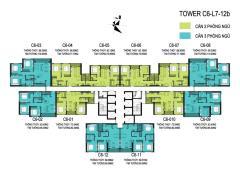 Bán căn số c6-1212 vinhomes trần duy hưng 88m2 3pn view hồ đ