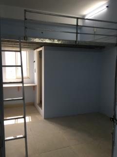 Phòng trọ mới xây có gác & kệ bếp nấu ăn, gần quang trung
