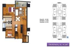 Án căn hộ 2 ngủ 97.3m2 dự án new skyline văn quán, tầng đẹp