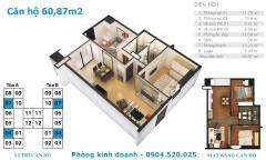 Chính chủ cần bán gấp căn 60m2 chung cư tứ hiệp plaza