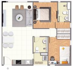 Bán căn hộ citihome q.2 căn rẻ duy nhất dt: 64m2, 2pn-2wc.