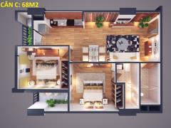 Chủ nhà cần bán gấp căn 69m2 tầng 9 căn 20 chung cư athena c