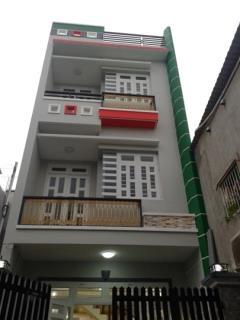 Nhà mới, hẻm 7m, gần gò vấp, (4,5x14), đúc 4 tầng, 3 lâù,