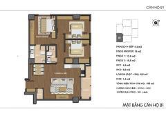 Bán căn hộ góc 105m2 3 phòng ngủ mặt đường 30m, cách thủ lệ