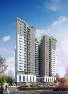 Bán căn hộ 2 ngủ 52,1 m2, chung cư hud3 nguyễn đức cảnh