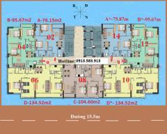 Suất ngoại giao căn 104m2 chung cư a1ct2 linh đàm bán gấp