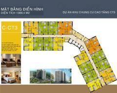 Cần bán căn hộ 57m2 - 2 phòng ngủ- hướng đông - ct3 linh đàm