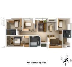 Cần bán căn hộ 4 ngủ 237m2 đông nam chung cư vp2 linh đàm