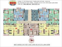 Bán chung cư a1ct2 linh đàm căn 134m2 - 3 phòng ngủ