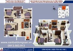 Bán căn hộ 85m2 giá rẻ nhất tại chung cư b1 b2 linh đàm