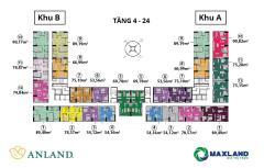 Chung cư  cao cấp anland complex  nam cường 2 phòng ngủ giá