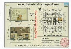 Căn hộ 61 m2 chung cư hh4a linh đàm chênh chỉ 55 triệu