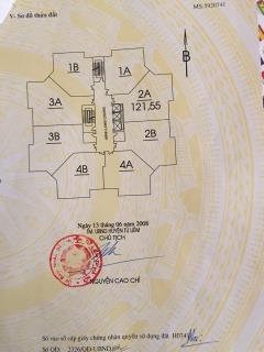 Chính chủ cần bán căn 121.55 m2,tầng đẹp,tòa nhà a,19 tr/m2.