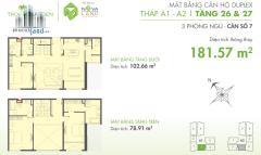 Bán căn duplex tropic thảo điền, view quận 1, 180m2, giá 8.8