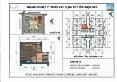 Cần bán căn hộ giá rẻ, đẹp khu  linh đàm, 45m,1 phòng ngủ