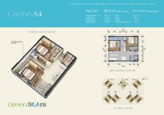 Bán gấp căn hộ 2pn, 2vs giá 1,6 tỷ dự án green stars