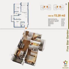 Căn hộ ngã tư sở 72m2 với 2 phòng ngủ trong tầm tay