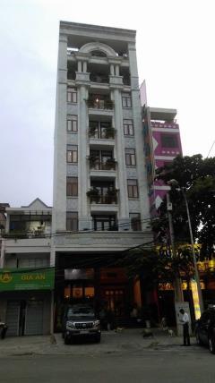 Bán nhà hẻm 6m quận 3. dt 6.2x18m. 5 lầu thang máy. vườn chu
