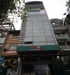 Cho thuê nhà mặt phố chùa láng 85m x 5 tầng, giá 45 triệu/th