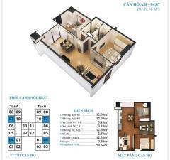 Chính chủ cần bán  căn 04 tầng 9, dt 59m2, giá 14.5 tr/m2.