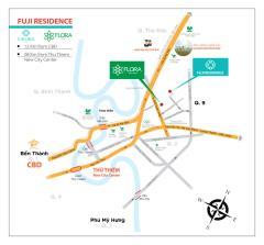 Bán căn hộ flora fuji,quận 9, giá 1,1 tỷ/ căn, ck đến 3%
