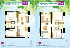 Cho thuê căn hộ 68m2 thuộc c/cư parcspring quận 2