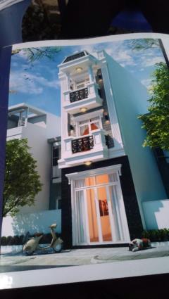 Nhà mới xây, 4 x14,5 đúc 1 trệt + 2 lầu giá rẻ 1,45 tỷ .