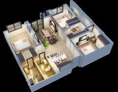 Chỉ từ 1 tỷ 9 bạn đã sở hữu ngay căn hộ chung cư cao cấp an