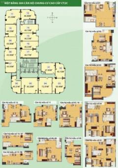 Cần bán gấp chung cư ct2c nghĩa đô, diện tích 47.95m2 căn 01