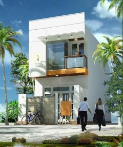 Cần bán gấp nhà 2 tầng mặt tiền đường nhựa 13 m