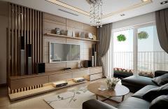 Căn hộ cho thuê đầy đủ nội thất đẹp độc đáo, sang trọng