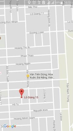 Bán đất lỗ giáng 15 hướng tây, phường hòa xuân giá 660tr.