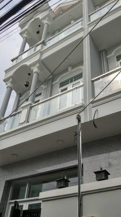 Bán nhà mới, sổ riêng, 3 tầng, dt 44m2, huỳnh tấn phát