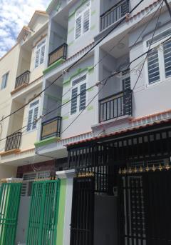 Bán nhà mới, sổ riêng, 3 tầng, dt 44m2, đường huỳnh tấn phát