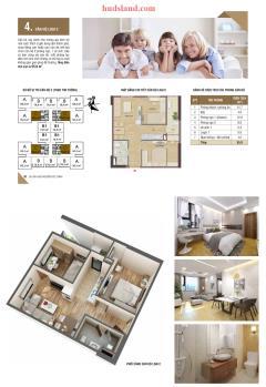 Bán căn hộ 2 pn, dt 52.1m2 chung cư hud3 nguyễn đức cảnh