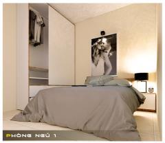 Bán căn hướng tây tầng cao 2 phòng ngủ -  gía rẻ