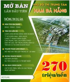 Đất nền giá rẻ nam đà nẵng 250-300tr//nền(hỗ trợ trả góp)