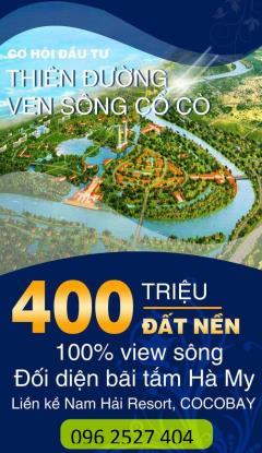Bán 300m2 đất biển cạnh bãi tắm hà my, resort the nam hai