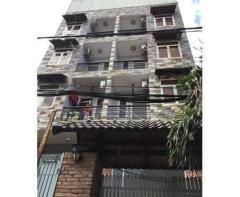 Bán khách sạn 5 lầu có thang máy 26 phòng quận 12.