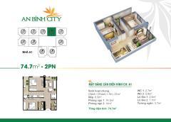 Căn hộ 74m2 view hồ giá rẻ tại chung cư an bình