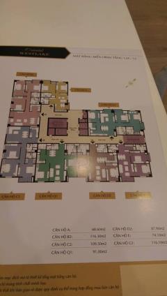 Bán căn hộ chung cư oriental westlake 174 lạc long quân