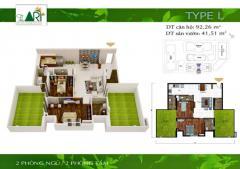 Bán penthouse the art, full nội thất 5 sao, có 2 sân vườn