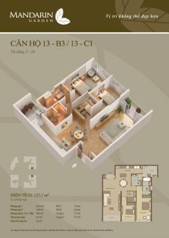 Bán căn hộ 127m2 tòa b3 cccc mandarin garden