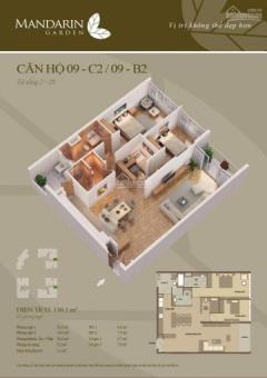 Bán căn hộ thô 168m2, 171,6m2, 172m2 & 302m2 cccc mandarin